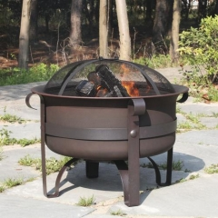 Deep Steel Cauldron 24""