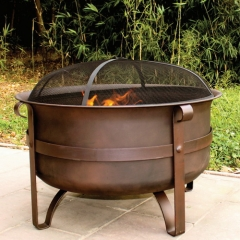 "34"" Extra Large and Deep Fire Pit Cauldron"
