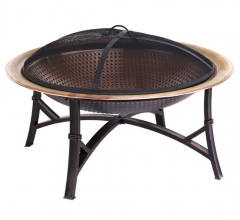 "29"" copper fire pit"