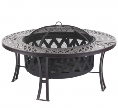 "38"" Steel fire pit table"
