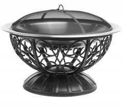 74cm ornate stainless steel fire pit metal outdoor fire pit