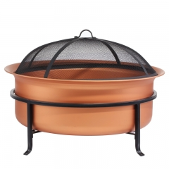 "29"" Real Copper Fire pit Cauldron large fire bowl"