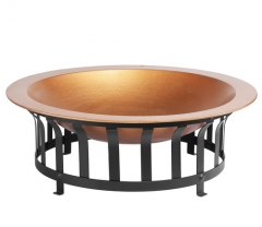 "40"" large cast iron fire pit patio fire bowl"