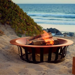 "40"" Large Solid Copper Fire Pit"